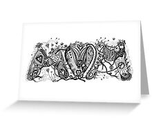 Mum (Mom) Aussie Tangle in Black and White Greeting Card