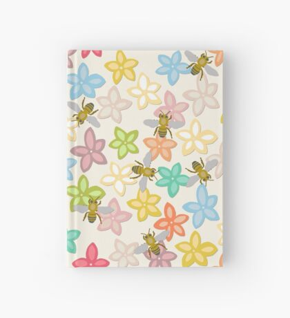 Indian Summer flowers and bees Hardcover Journal