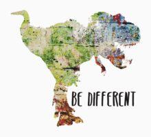 Be Different Dinosaur One Piece - Short Sleeve