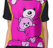 teddy bear hug pink Chiffon Top