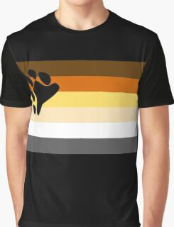 Bear Pride Flag Graphic T-Shirt
