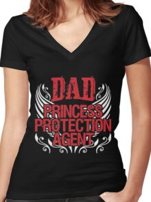 Dad princess Women's Fitted V-Neck T-Shirt