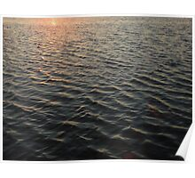 water at sunset Poster