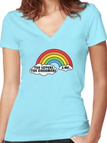 Rainbow Connection Women's Fitted V-Neck T-Shirt