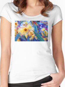 Vibrant Gum Blossoms Women's Fitted Scoop T-Shirt