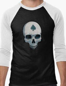 Vampire Skull, Ace of Spades Men's Baseball ¾ T-Shirt