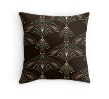 Seamless beautiful antique art deco pattern ornament. Geometric background design. Throw Pillow
