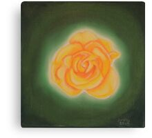 Yellow rose. Keep Smiling. Canvas Print