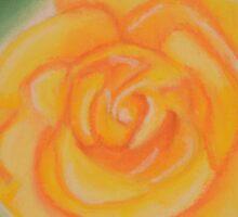 Yellow rose. Keep Smiling. Sticker