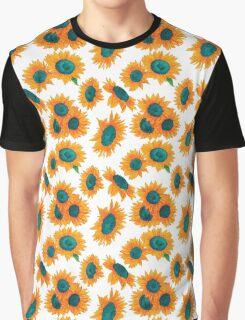 Happy Sunflowers Graphic T-Shirt