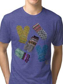 """Latvian Mittens 1""© Tri-blend T-Shirt"