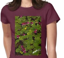 Vivid Fuchsia Waterlilies - a Mediterranean Delight from Barcelona Womens Fitted T-Shirt