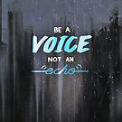 Be a voice, not an echo by Scott Mitchell