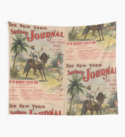 Artist Posters The New York Sunday journal with it the comic colored weekly eight pages all in tropical colors 0963 Wall Tapestry
