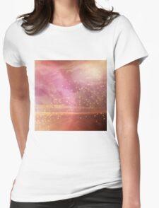 Ocean sunset glow Womens Fitted T-Shirt