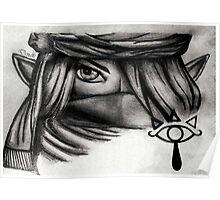 Denali Hyrule Warriors Sheik Sketch Poster
