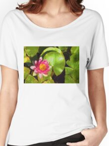 Pretty in Pink - a Waterlily Impression Women's Relaxed Fit T-Shirt