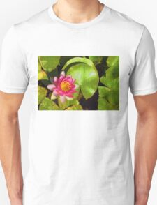 Pretty in Pink - a Waterlily Impression Unisex T-Shirt