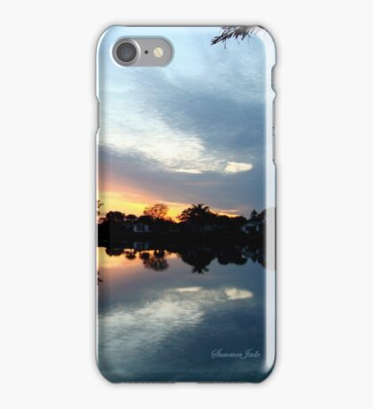 Tropical Sky ~ Lake Reflection iPhone Case/Skin