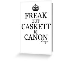 Caskett Canon Greeting Card