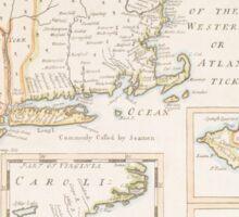 Historic Map of North america Sticker