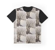 Woodland Tree in Ink  Graphic T-Shirt