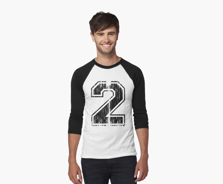Bold Distressed Sports Number 2 by adamcampen