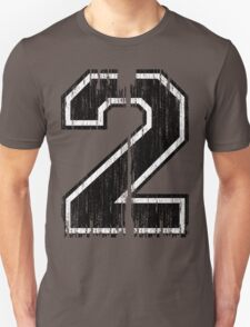 Bold Distressed Sports Number 2 T-Shirt
