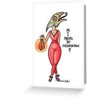 MonsterGirl Reptile Greeting Card