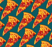 Pepperoni Pizza Pattern by Kelly  Gilleran
