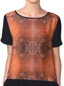 Holly Berry Pattern Chiffon Top