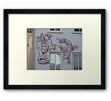 St George and the Dragon, Miltenberg, Germany Framed Print