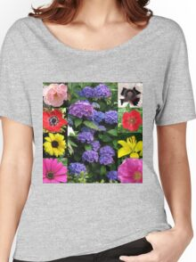 Summer Blossoms Collage Women's Relaxed Fit T-Shirt