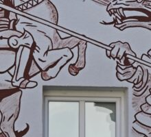 St George and the Dragon, Miltenberg, Germany Sticker