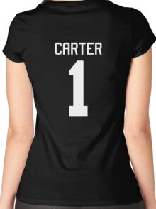 Peggy Carter jersey (white text) Women's Fitted Scoop T-Shirt