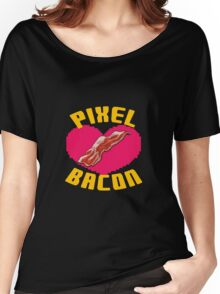 Pixel Bacon! Women's Relaxed Fit T-Shirt