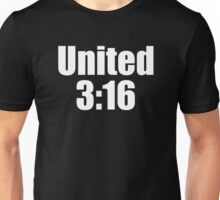 United 3:16 Tee (White Font) Unisex T-Shirt
