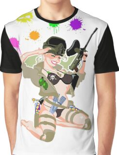 Paintball PinUp Graphic T-Shirt