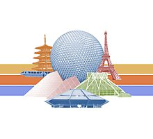 EPCOT Center Inspired Design  Photographic Print