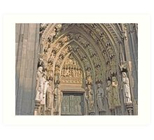 Entrance, Cologne Cathedral, Germany Art Print