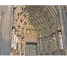 Entrance, Cologne Cathedral, Germany Photographic Print