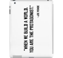 Joe Rohde Quote iPad Case/Skin