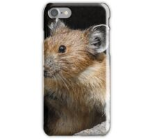 Pika Looking out from its Burrow iPhone Case/Skin