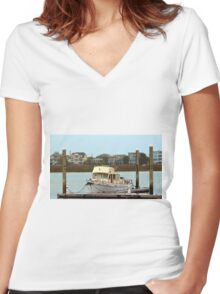 Rusty Old Boat Women's Fitted V-Neck T-Shirt