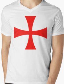 Templar cross Mens V-Neck T-Shirt