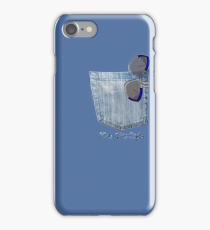 Sun glasses of the 80's in a denim pocket ( 6267  Views) iPhone Case/Skin