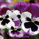 Mother's Day Card with Rose Wing Pansies by BlueMoonRose