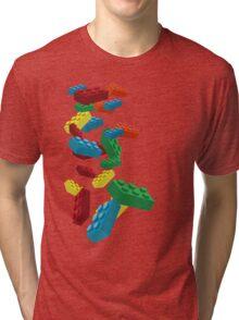 Falling Legos Tri-blend T-Shirt