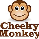 Cheeky Monkey - Funny Toon Face Sticker by deanworld