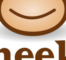 Cheeky Monkey - Funny Toon Face Sticker Sticker